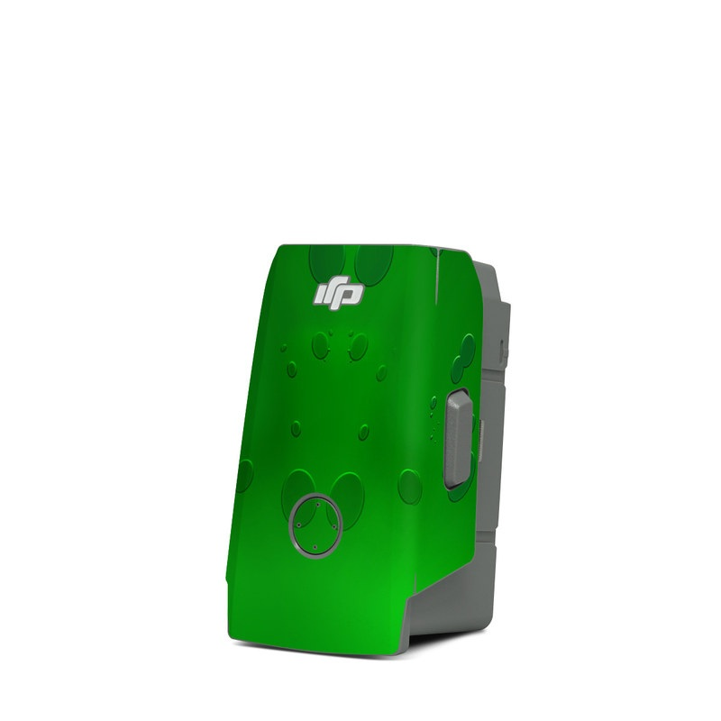 DJI Mavic Air 2 Battery Skin design of Green, Font, Animation, Logo, Graphics, Games with green, white colors