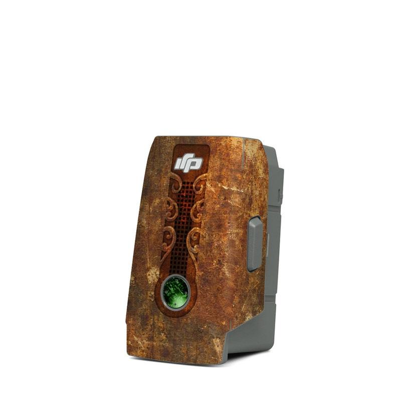 DJI Mavic Air 2 Battery Skin design with brown, red, yellow, green, orange colors