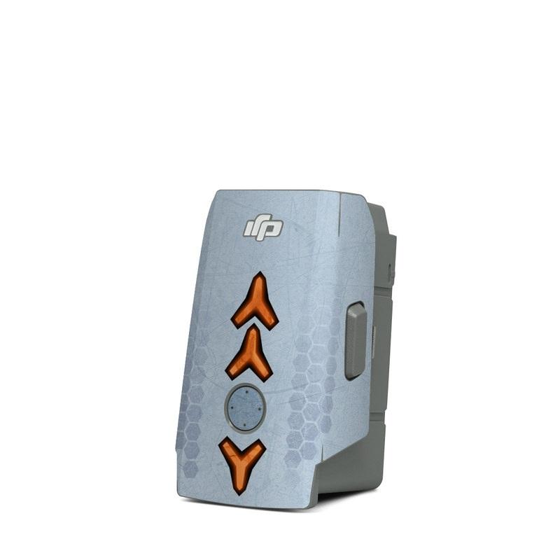 DJI Mavic Air 2 Battery Skin design with blue, black, orange colors