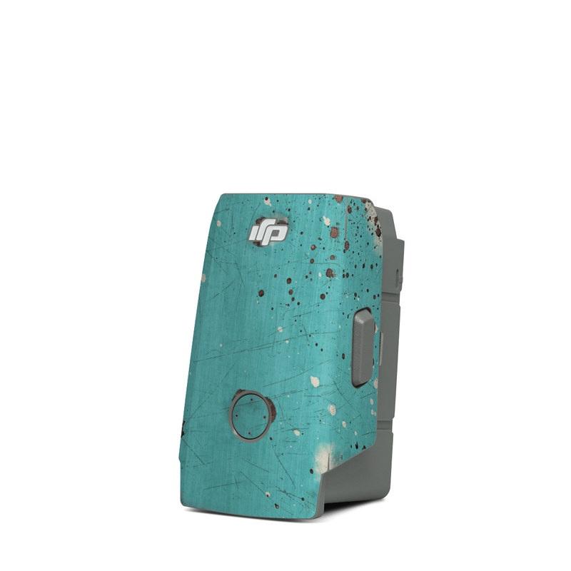 DJI Mavic Air 2 Battery Skin design with red, blue, gray, black colors