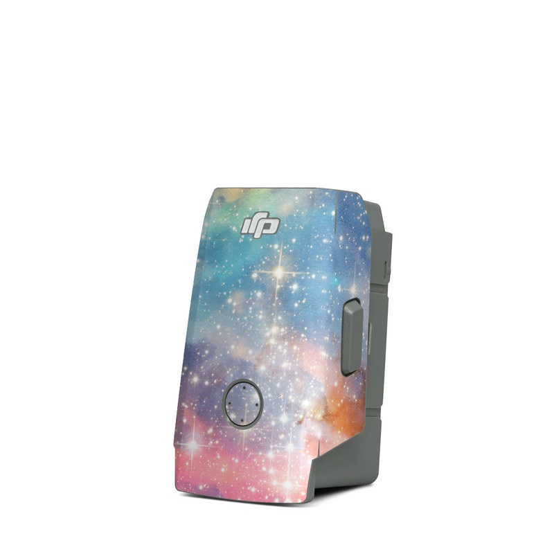 DJI Mavic Air 2 Battery Skin design of Nebula, Sky, Astronomical object, Outer space, Atmosphere, Universe, Space, Galaxy, Celestial event, Star with white, black, red, orange, yellow, blue colors