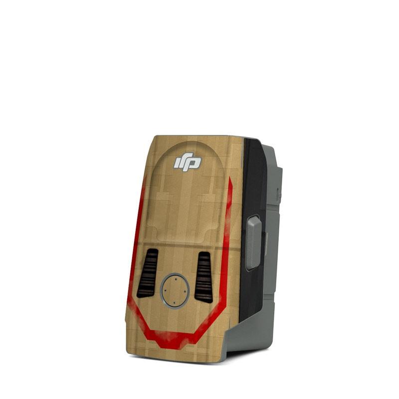 DJI Mavic Air 2 Battery Skin design with brown, red colors