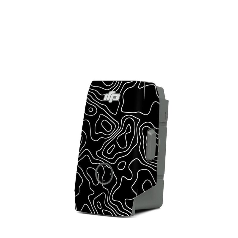 DJI Mavic Air 2 Battery Skin design of Art, Motif, Pattern, Symmetry, Monochrome, Circle, Font, Visual arts, Illustration, Monochrome photography with black, gray colors