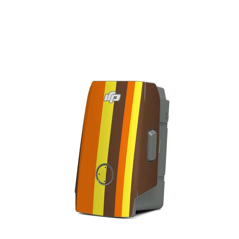 DJI Mavic Air 2 Battery Skin design of Orange, Yellow, Line, Brown, Font, Material property, Graphic design, Pattern, Parallel with brown, orange, yellow colors