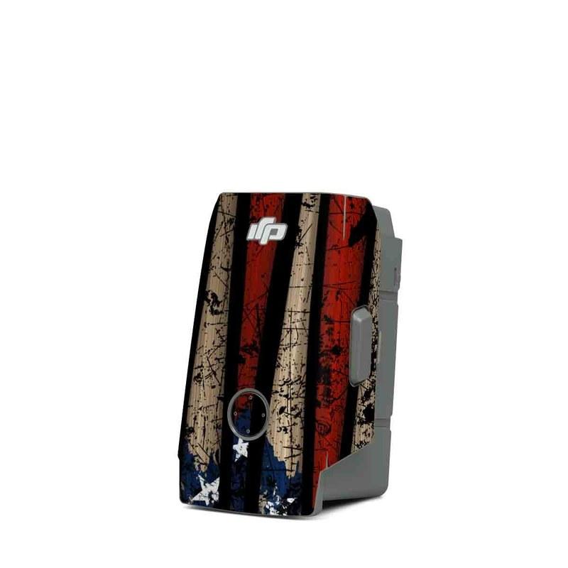 DJI Mavic Air 2 Battery Skin design of Baseball bat, Baseball equipment with black, red, gray, green, blue colors