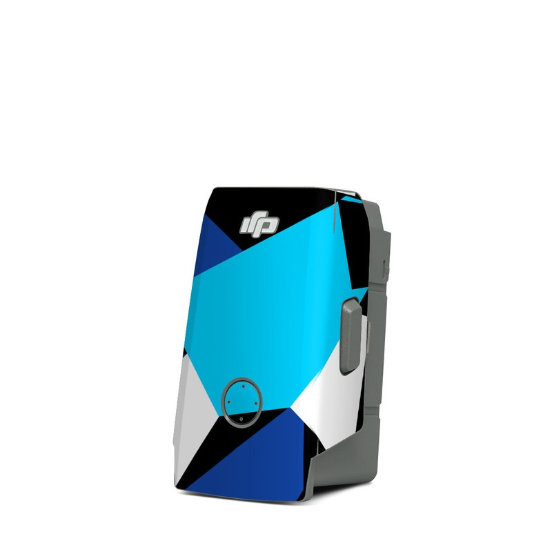DJI Mavic Air 2 Battery Skin design of Blue, Pattern, Turquoise, Cobalt blue, Teal, Design, Electric blue, Graphic design, Triangle, Font with blue, white, black colors