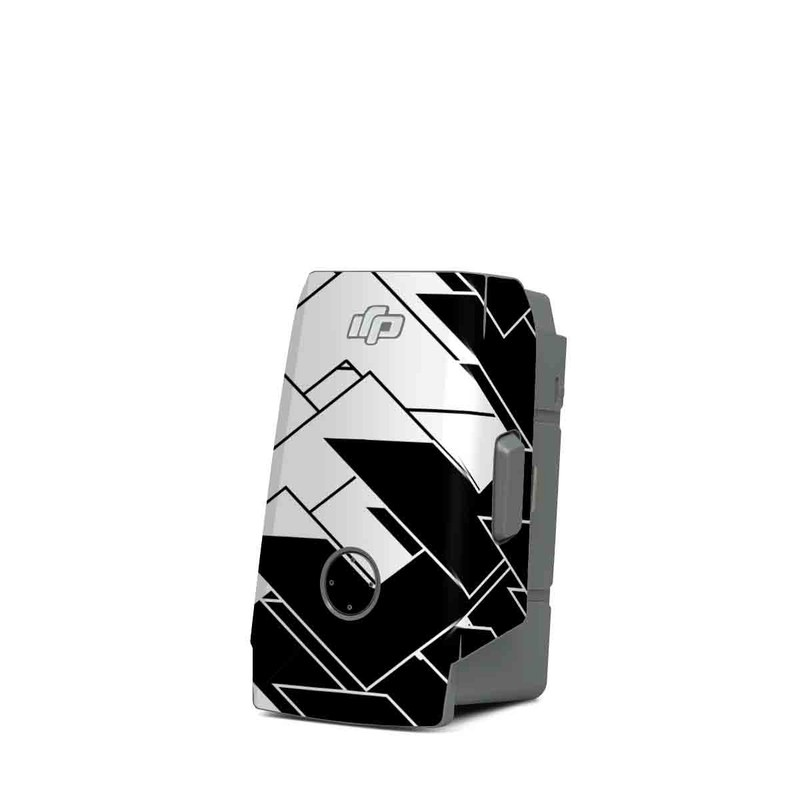 DJI Mavic Air 2 Battery Skin design of Pattern, Black, Black-and-white, Monochrome, Monochrome photography, Line, Design, Parallel, Font with black, white colors