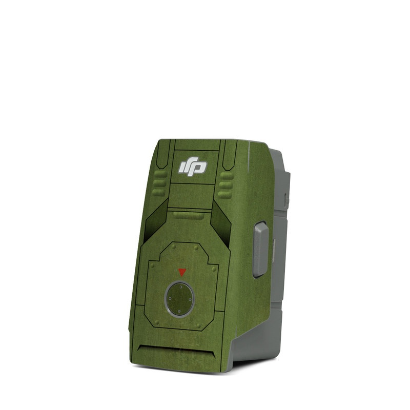 DJI Mavic Air 2 Battery Skin design with green, black, yellow, red colors