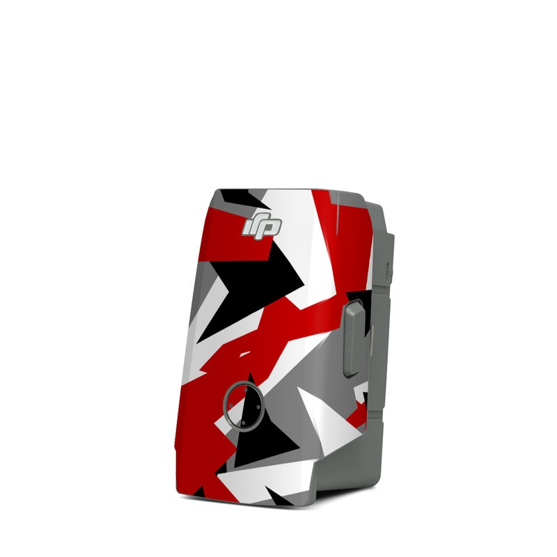 DJI Mavic Air 2 Battery Skin design of Red, Pattern, Font, Design, Textile, Carmine, Illustration, Flag, Crowd with red, white, black, gray colors