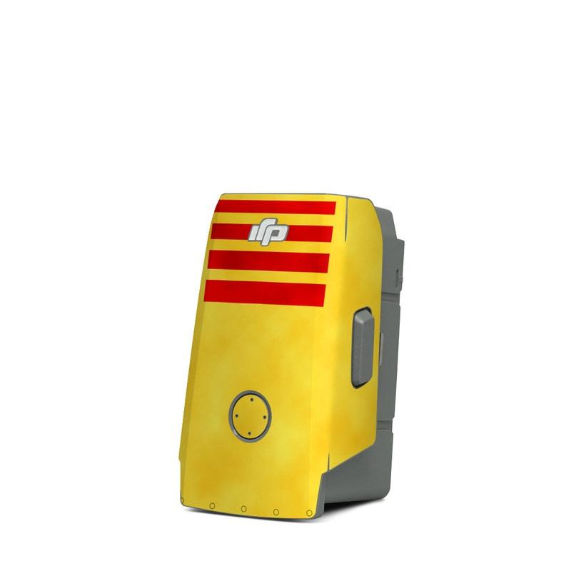 DJI Mavic Air 2 Battery Skin design with red, yellow, black colors