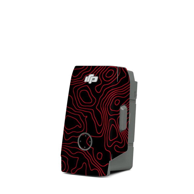 DJI Mavic Air 2 Battery Skin design of Pink, Art, Motif, Magenta, Font, Pattern, Symmetry, Rectangle, Circle, Electric blue with black, red colors