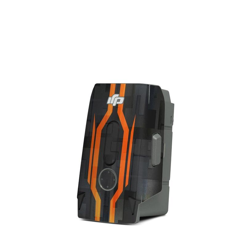 DJI Mavic Air 2 Battery Skin design with black, gray, orange colors