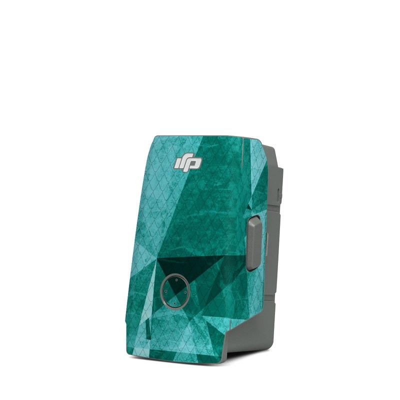 DJI Mavic Air 2 Battery Skin design of Aqua, Blue, Pattern, Turquoise, Illustration, Teal, Design, Line, Graphic design with blue colors