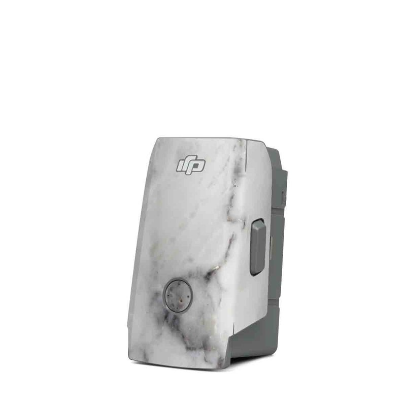 DJI Mavic Air 2 Battery Skin design of White, Geological phenomenon, Marble, Black-and-white, Freezing with white, black, gray colors