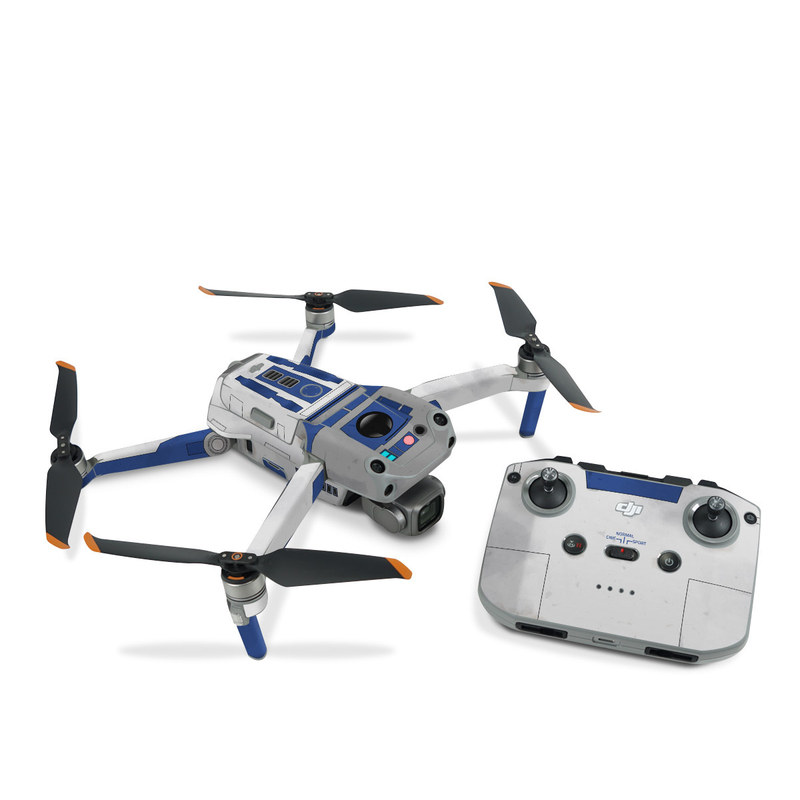 DJI Air 2S Skin design with blue, gray, green, red colors