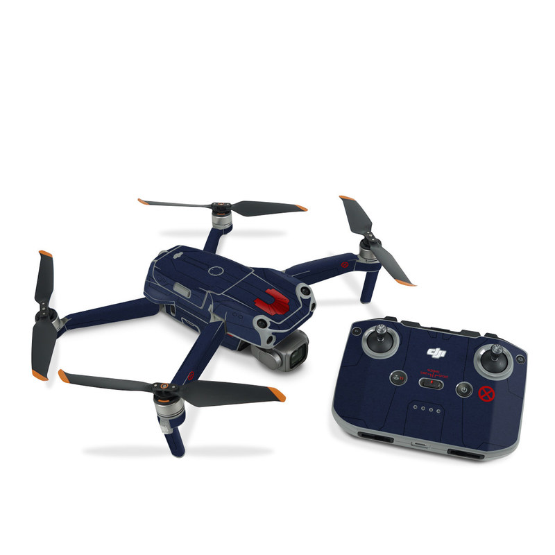 DJI Air 2S Skin design with blue, red colors