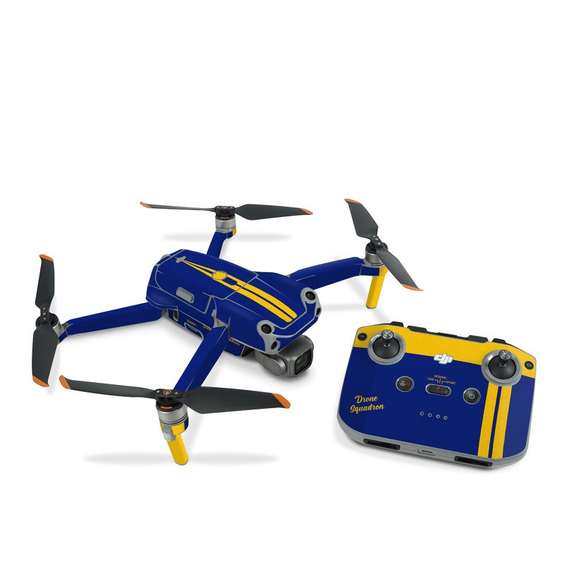DJI Air 2S Skin design with blue, yellow colors
