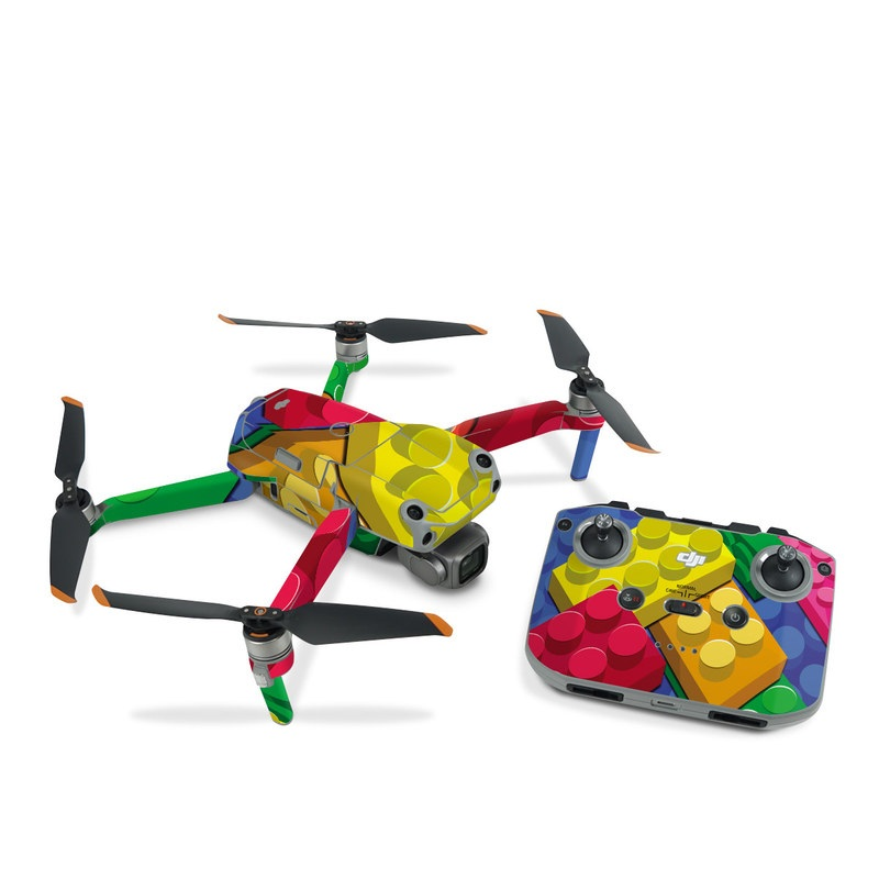 DJI Air 2S Skin design of Colorfulness, Pattern, Circle, Games, Play with red, blue, green, yellow, orange, pink colors