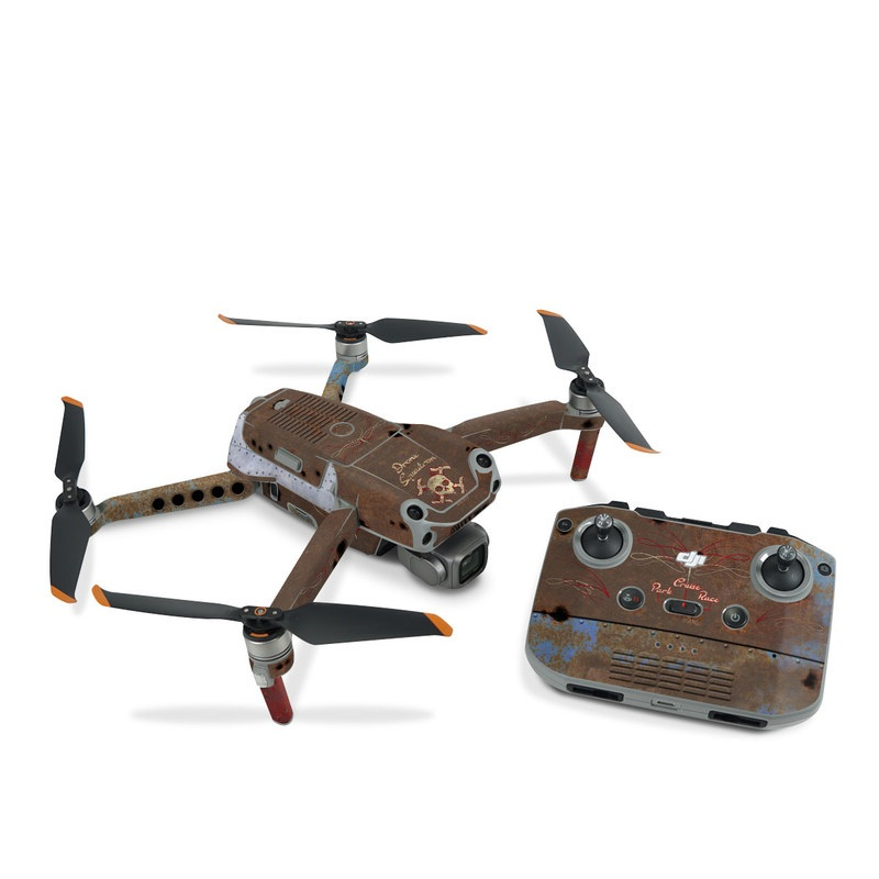 DJI Air 2S Skin design of Line, Visual arts, Symmetry, Concrete, Tints and shades, Painting, Art with blue, red, yellow, brown, black colors