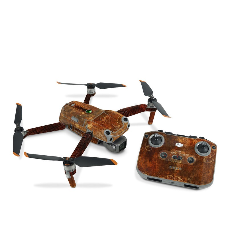 DJI Air 2S Skin design with brown, red, yellow, green, orange colors