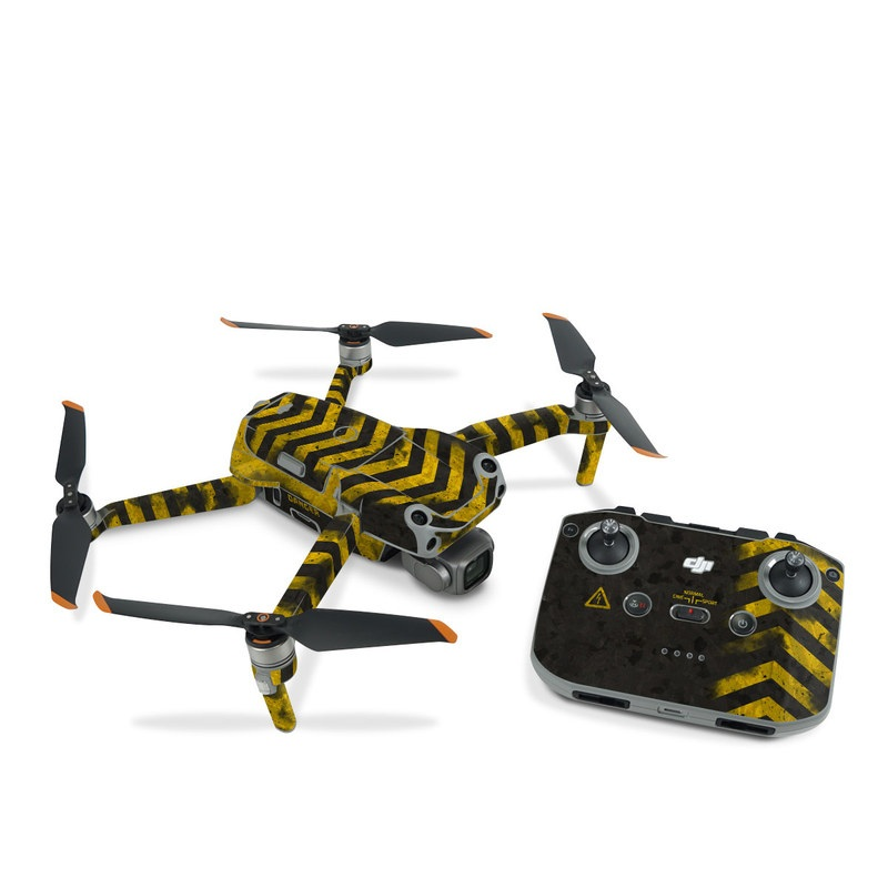 DJI Air 2S Skin design of Colorfulness, Road surface, Yellow, Rectangle, Asphalt, Font, Material property, Parallel, Tar, Tints and shades with black, gray, yellow colors