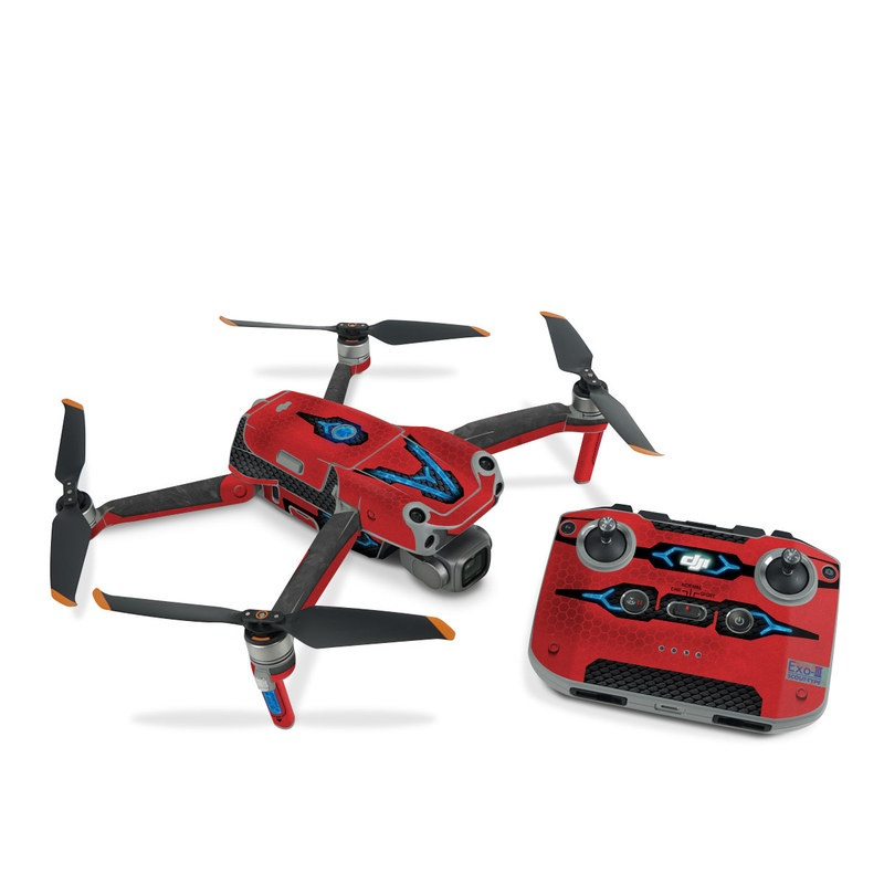 DJI Air 2S Skin design with red, black, blue colors