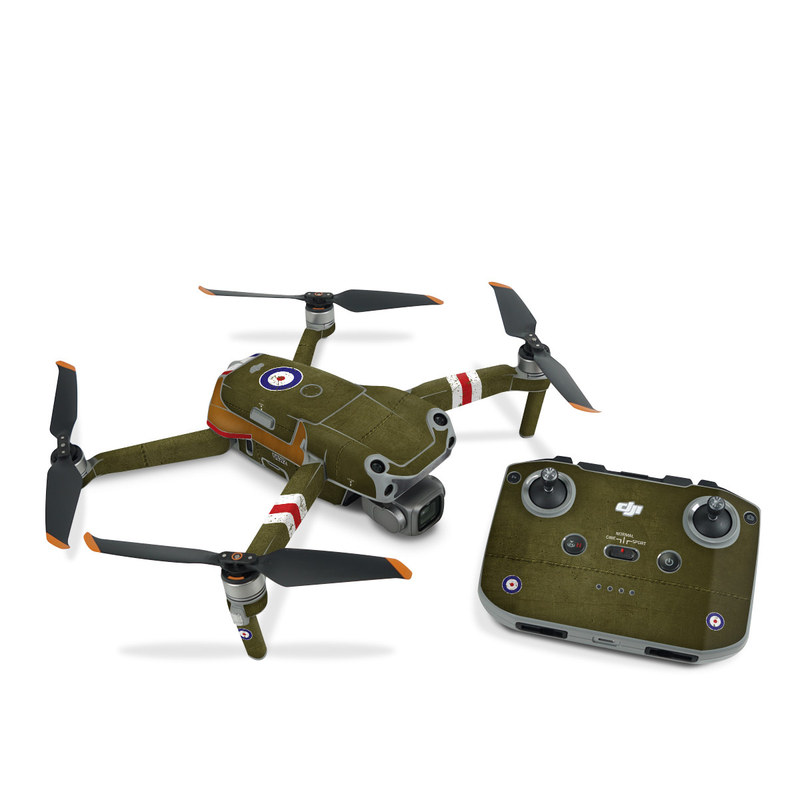 DJI Air 2S Skin design with green, red, white, blue colors