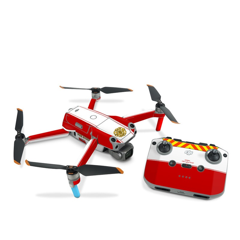 DJI Air 2S Skin design of Military rank, Flag with white, red, yellow colors