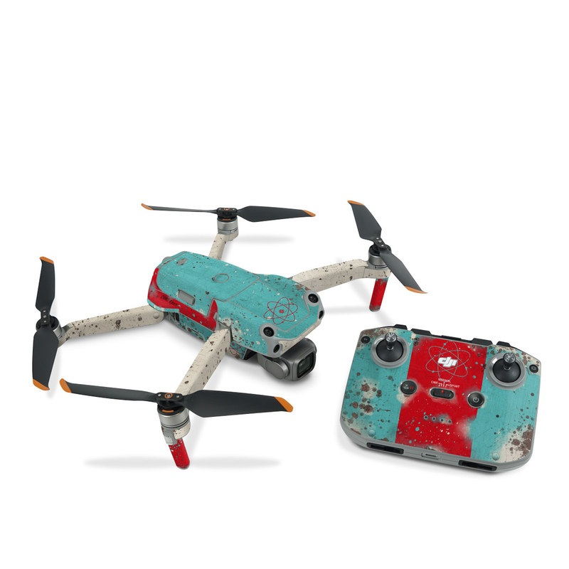 DJI Air 2S Skin design with red, blue, gray, black colors