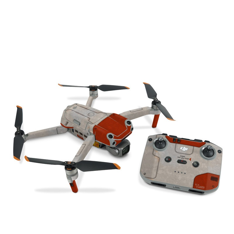 DJI Air 2S Skin design with red, gray colors