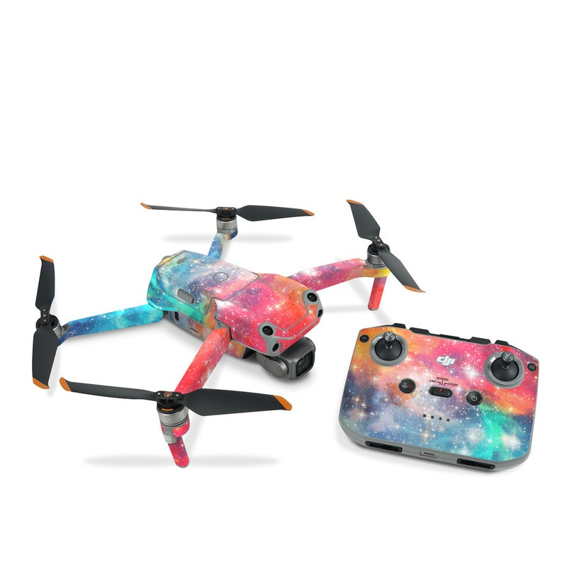 DJI Air 2S Skin design of Nebula, Sky, Astronomical object, Outer space, Atmosphere, Universe, Space, Galaxy, Celestial event, Star with white, black, red, orange, yellow, blue colors