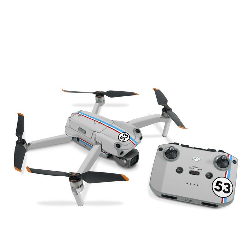DJI Air 2S Skin design of Line, Sign, Games with gray, blue, red, white, black colors