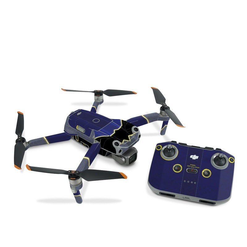 DJI Air 2S Skin design with black, blue, yellow, gray colors