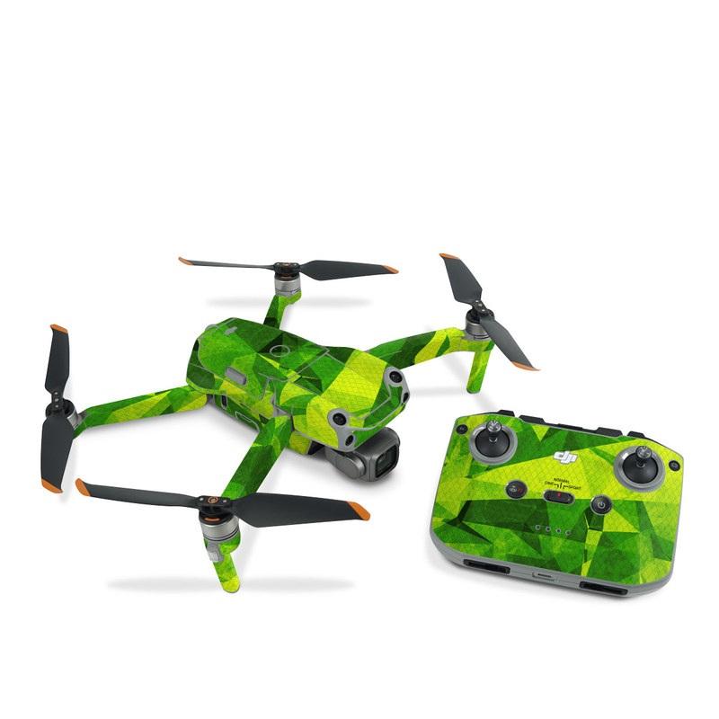 DJI Air 2S Skin design of Green, Pattern, Leaf, Design, Illustration with green colors