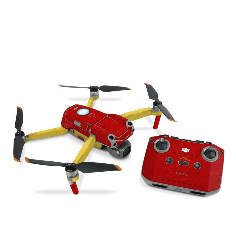 DJI Air 2S Skin design with red, yellow, white colors