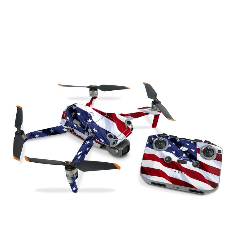 DJI Air 2S Skin design of Flag, Flag of the united states, Flag Day (USA), Veterans day, Memorial day, Holiday, Independence day, Event with red, blue, white colors