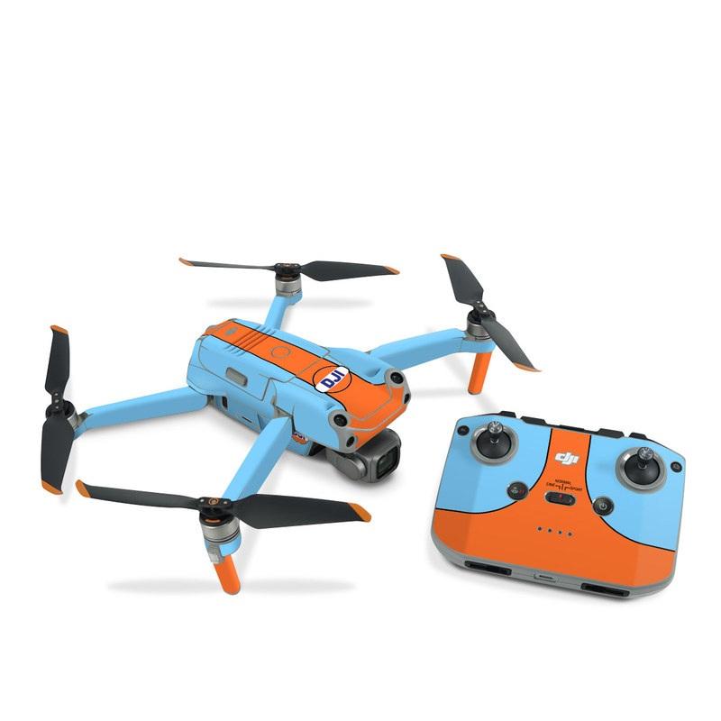 DJI Air 2S Skin design of Line with blue, orange, black colors