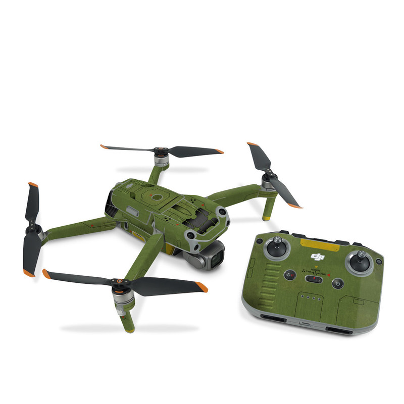 DJI Air 2S Skin design with green, black, yellow, red colors