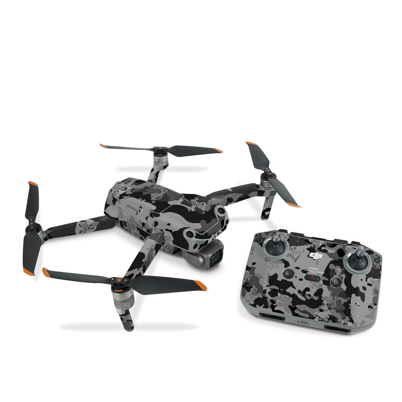 DJI Air 2S Skin design of Military camouflage, Pattern, Design, Camouflage, Illustration, Uniform, Black-and-white, Wallpaper, Art with black, gray colors