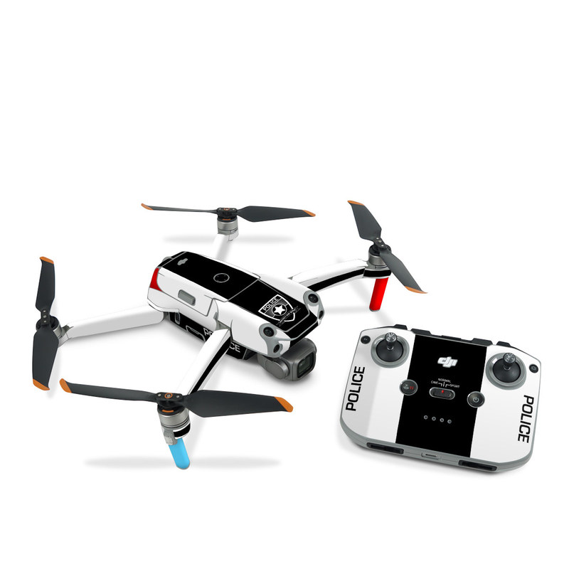 DJI Air 2S Skin design with white, black, red colors