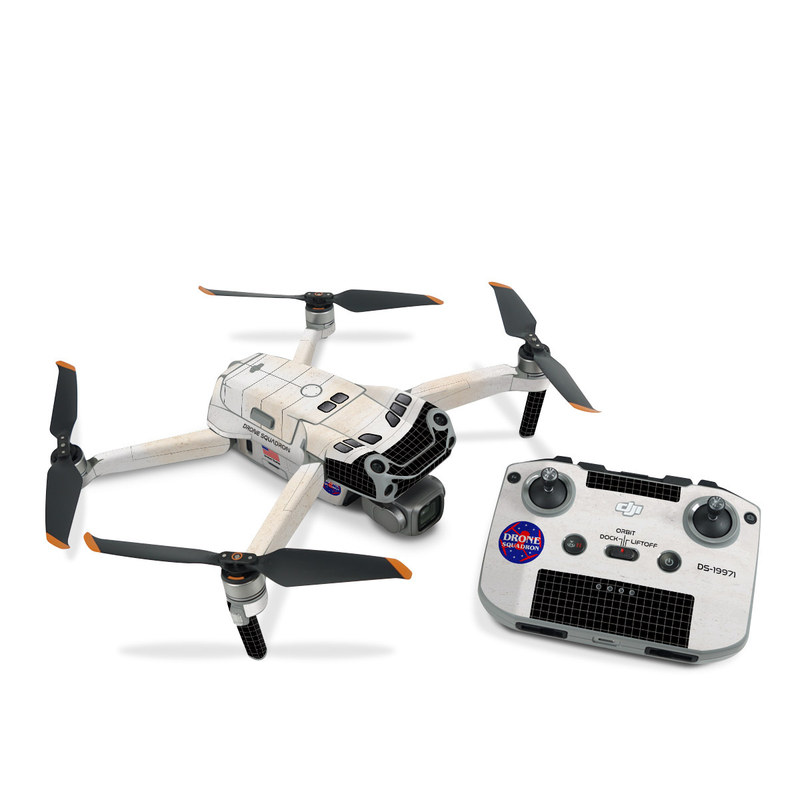 DJI Air 2S Skin design with black, white, red, blue, brown colors