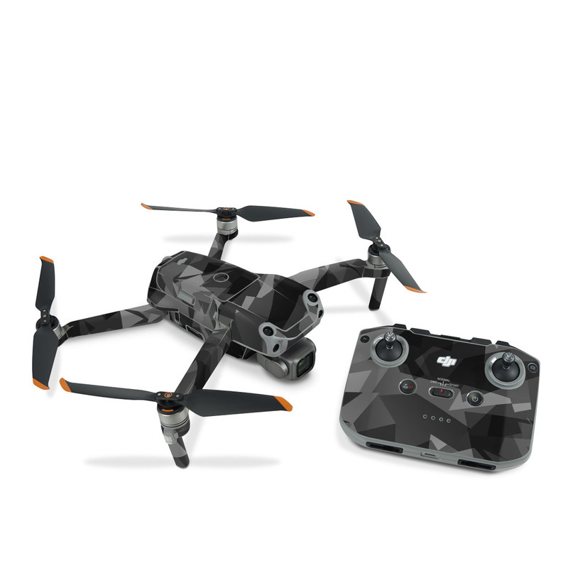DJI Air 2S Skin design of Black, Pattern, Triangle, Black-and-white, Monochrome, Grey, Design, Line, Architecture, Monochrome photography with black, gray colors