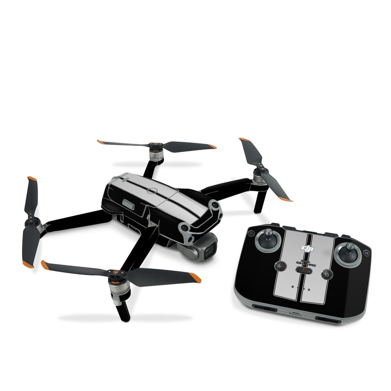 DJI Air 2S Skin design of Font, Architecture, Rectangle with black, gray colors