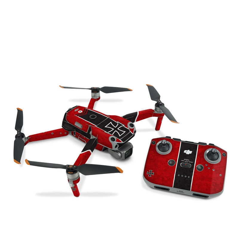 DJI Air 2S Skin design of Bullet, Holes, War, Red, Text, Carmine, Colorfulness, Maroon, Symbol, Coquelicot with red, black, white, gray colors