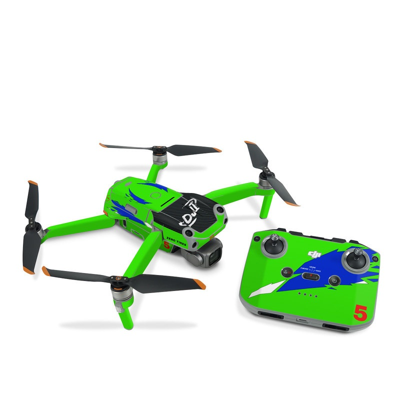 DJI Air 2S Skin design with green, blue, white, black colors
