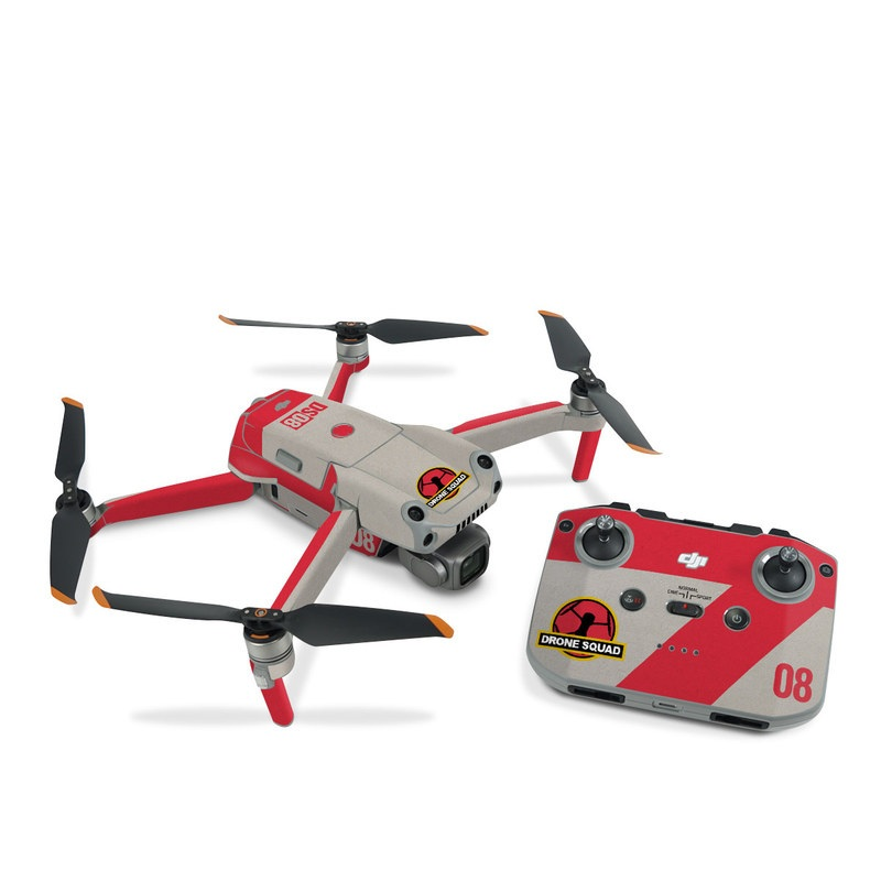 DJI Air 2S Skin design with red, gray, black, white, yellow colors