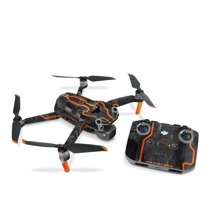 DJI Air 2S Skin design with black, gray, orange colors