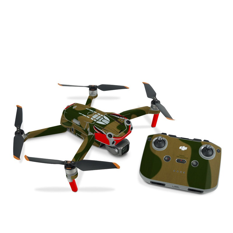 DJI Air 2S Skin design with green, red, white, black colors