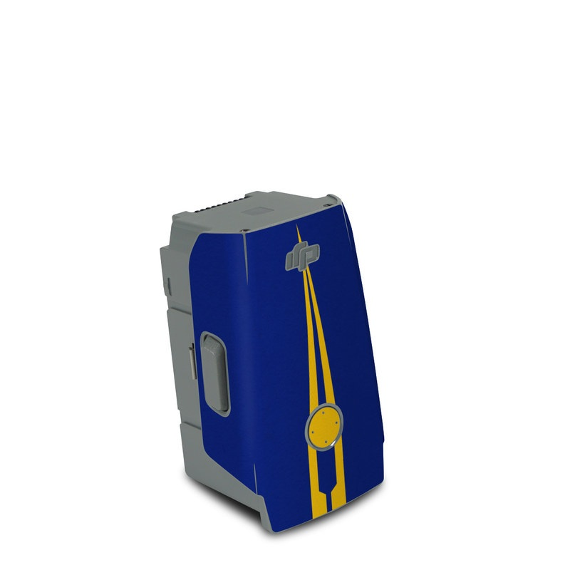 DJI Air 2S Battery Skin design with blue, yellow colors