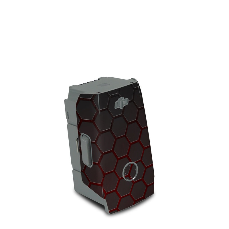 DJI Air 2S Battery Skin design of Black, Pattern, Metal, Design, Mesh, Carbon, Space, Wallpaper with black, red colors